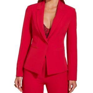Boston Proper Red single button blazer size 14